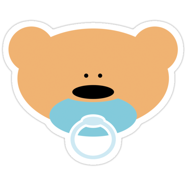 Quot Teddy Bear Baby Boy Quot Stickers By Chrisbears Redbubble