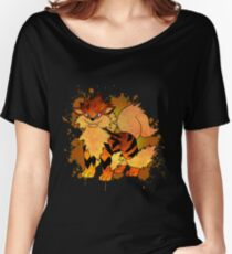 Arcanine - with background Women's Relaxed Fit T-Shirt