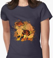 Arcanine - with background Womens Fitted T-Shirt