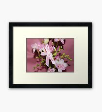 Pink for Breast Cancer Framed Print
