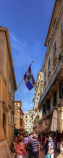 Shopping in Corfu Town by Tom Gomez