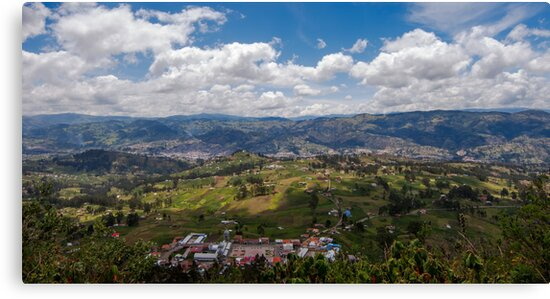 View From Atop Cojitambo, Ecuador by Paul Wolf