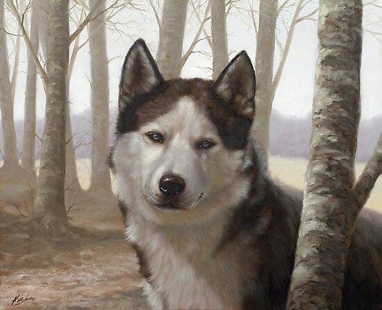 Siberian Husky by johnartist