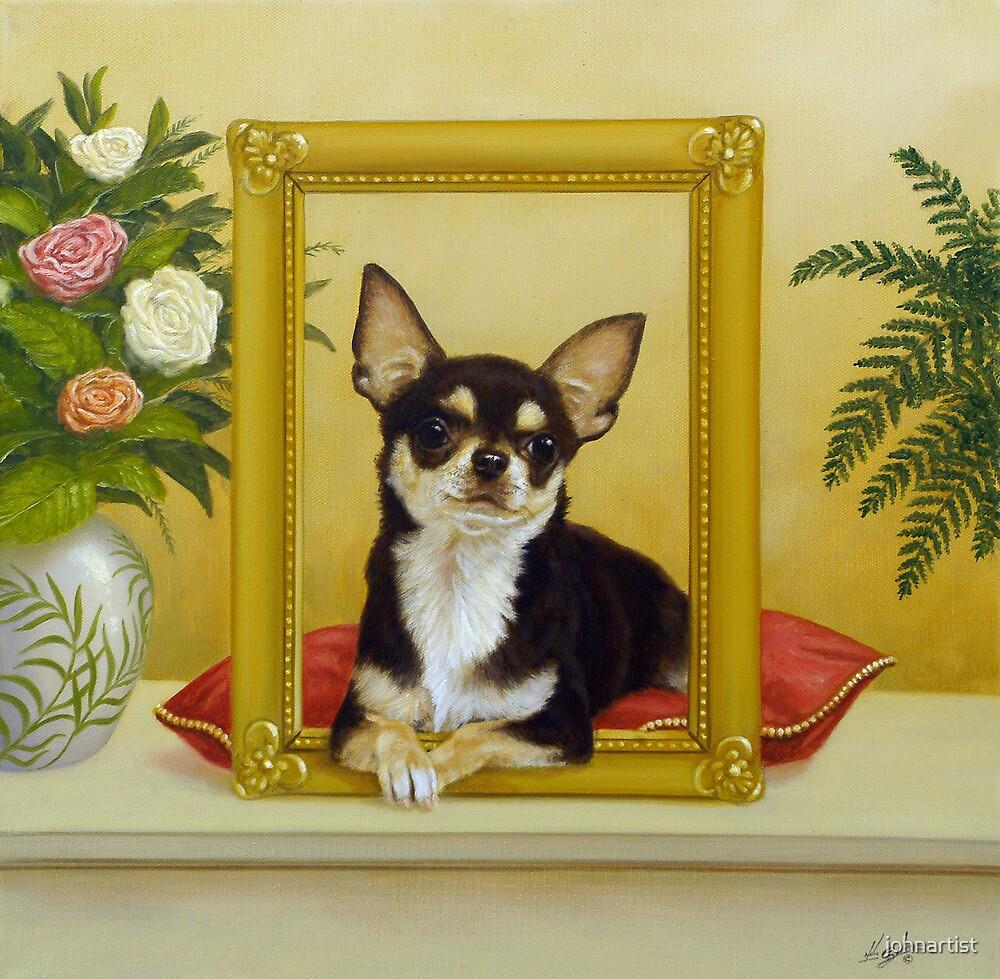 Chihuahua V - Mona Lisa by John Silver
