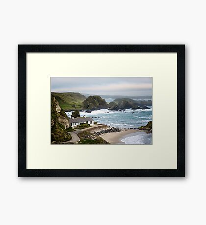Ballintoy Harbour , County Antrim , Northern Ireland Framed Print