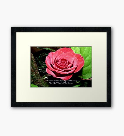 God's Word Will Last Forever Framed Print