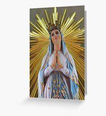 Madonna ta' Lourdes Greeting Card