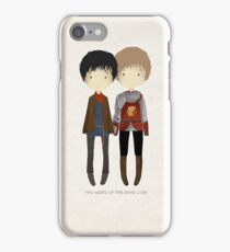 Cute Merlin and Arthur / MERTHUR iPhone Case/Skin