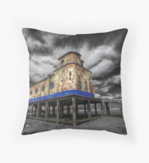 Lifeboat Station Colourised Throw Pillow