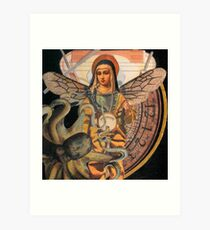 Virgin Mary Diver with Octopus Art Print