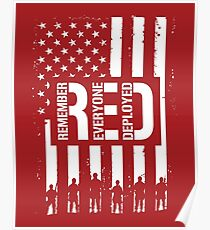 R.E.D. (Remember Everyone Deployed) Poster