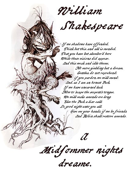 Quot Puck A Midsummer Night S Dream William Shakespeare