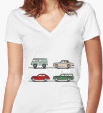 Volvo Lineup Women's Fitted V-Neck T-Shirt