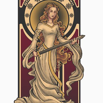 Shieldmaiden of Rohan STICKER by Christadaelia