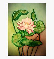 Lotus Painting Photographic Print