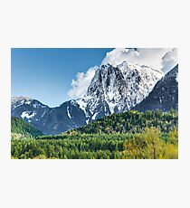 Mount Index and the Skykomish Valley Photographic Print