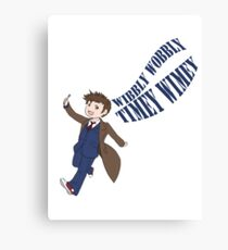Timey Wimey 10th Doctor Canvas Print