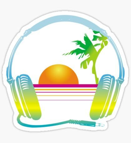Beach Sounds Sticker