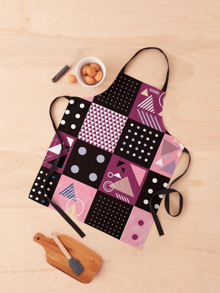 Funky yet Eclectic Geometric Abstract Patchwork Apron