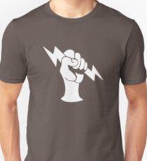 Bioshock Infinite Shock Jockey Vigor [White on Black] Unisex T-Shirt