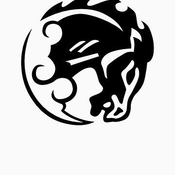 Bioshock Infinite Bucking Bronco Vigor [Black on White] by TitanVex