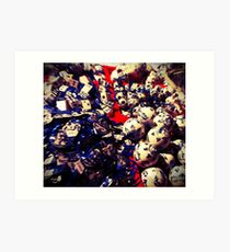 Tripping on Delftware Art Print