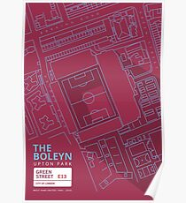 The Boleyn Ground - West Ham Utd Poster