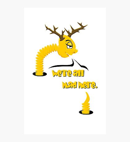 Worm with Horns VRS2 Photographic Print