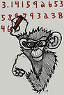 Monkey Doing Pi by Brett Gilbert