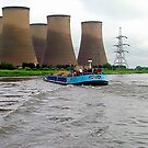 The fully laden barge - Farndale H - on the tidal river Trent.....! by Roy  Massicks
