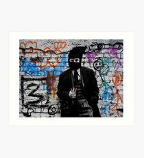 the crayola grafitti bandit   Art Print