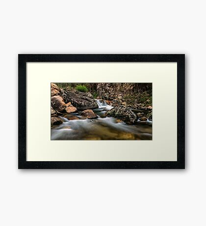 East Kiewa River Framed Print