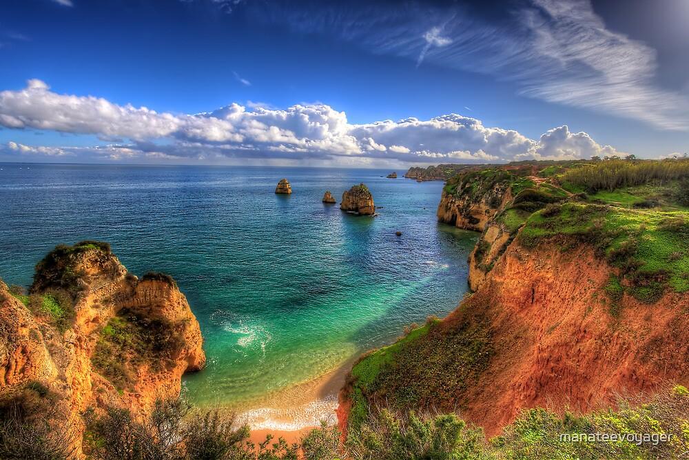 Red Sandstone Cliffs by manateevoyager