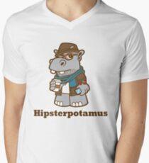 Hipsterpotamus Men's V-Neck T-Shirt