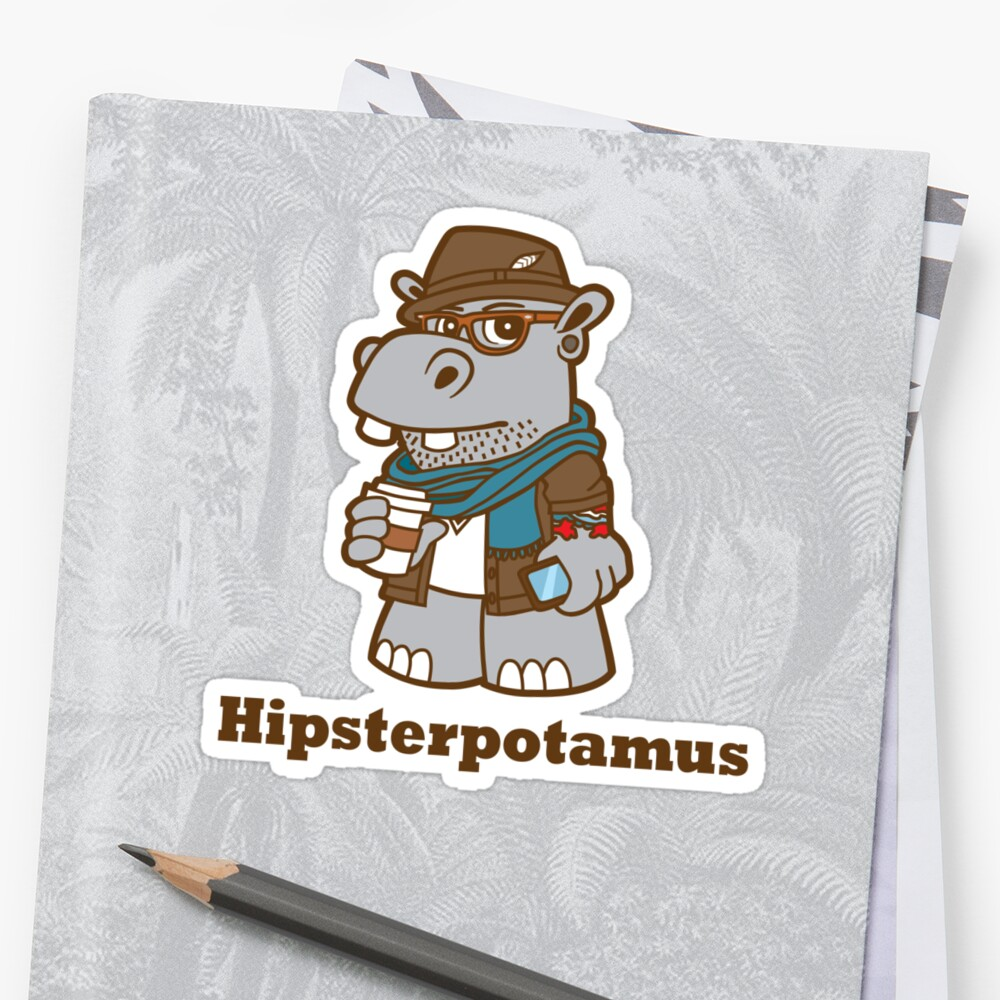 Hipsterpotamus by DetourShirts