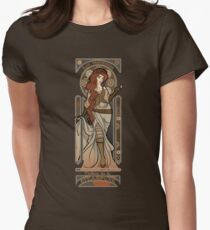 Steampunk Nouveau 2- Brown Women's Fitted T-Shirt