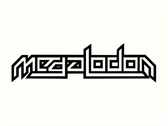 Megalodon dubstep logo art prints by dicktree redbubble megalodon dubstep logo by dicktree altavistaventures Choice Image