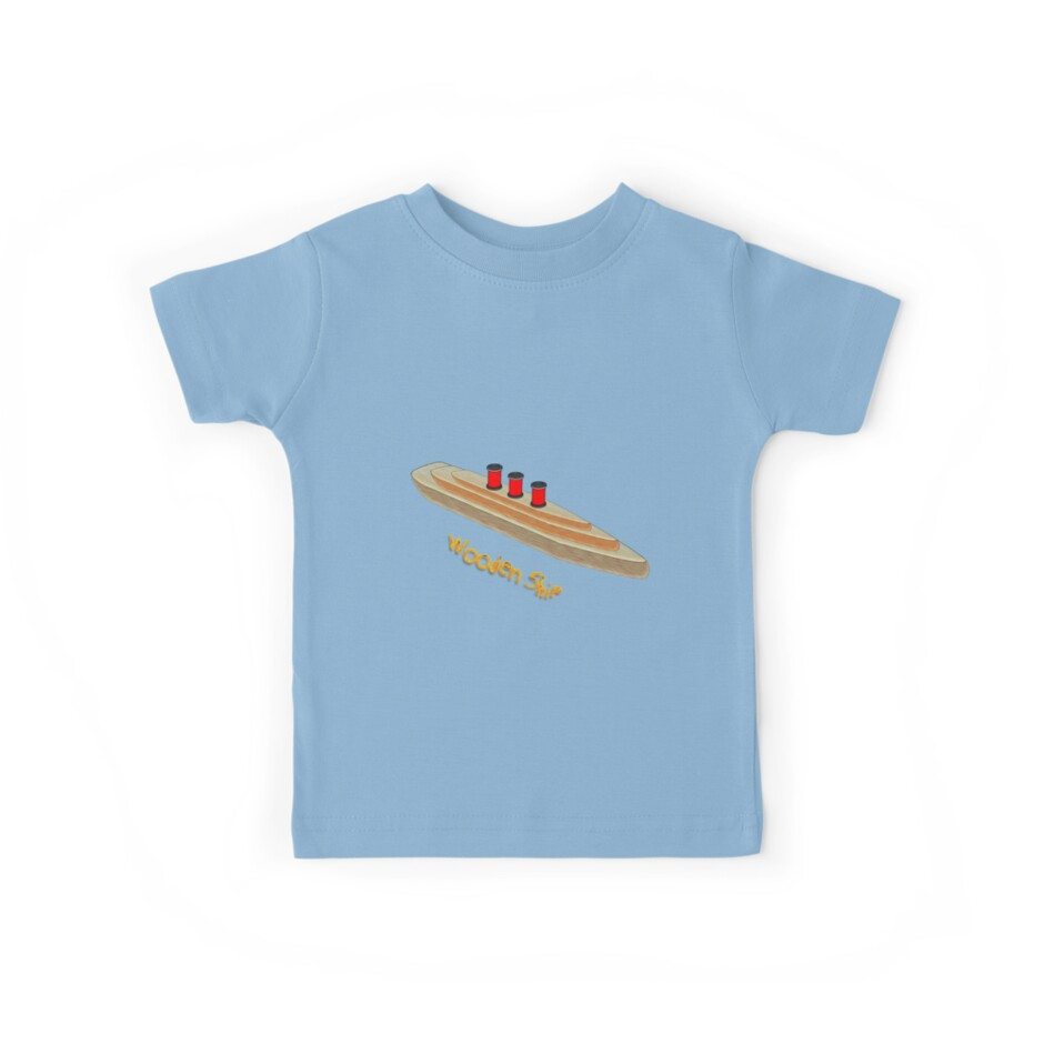 My Wooden Ship T-shirt by Dennis Melling