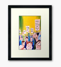 When all the geeks riot Framed Print