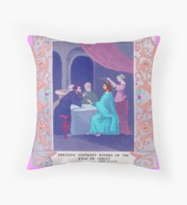 Anointing. Throw Pillow
