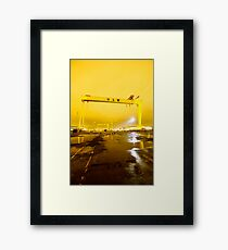 Belfast , Harland & Wolff Heavy Industries , Northern Ireland Framed Print
