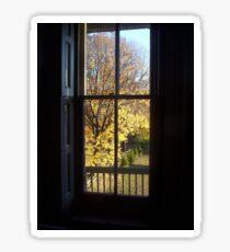 Through The Glass - Autumn View Sticker
