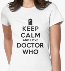Keep Calm and Love Doctor Who (Light Colors) Womens Fitted T-Shirt