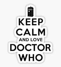 Keep Calm and Love Doctor Who (Light Colors) Sticker