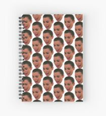 Kim Kardashian Crying Face Spiral Notebook