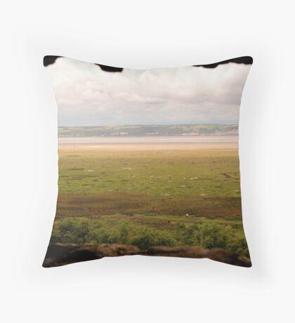 Gower Salt Marsh - As Seen From Weobly Castle Throw Pillow