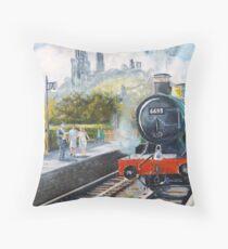 Corfe Station. Throw Pillow