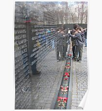 vietnam war memorial, washington dc Poster