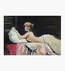 Semi Nude on Bed Photographic Print