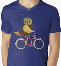 Owl Bicycle Men's V-Neck T-Shirt
